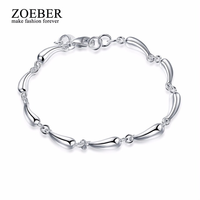 Zoeber New women Bracelet Silver color Stainless Steel Water droplets round creative Bracelet & Bangle female Party  Accessory