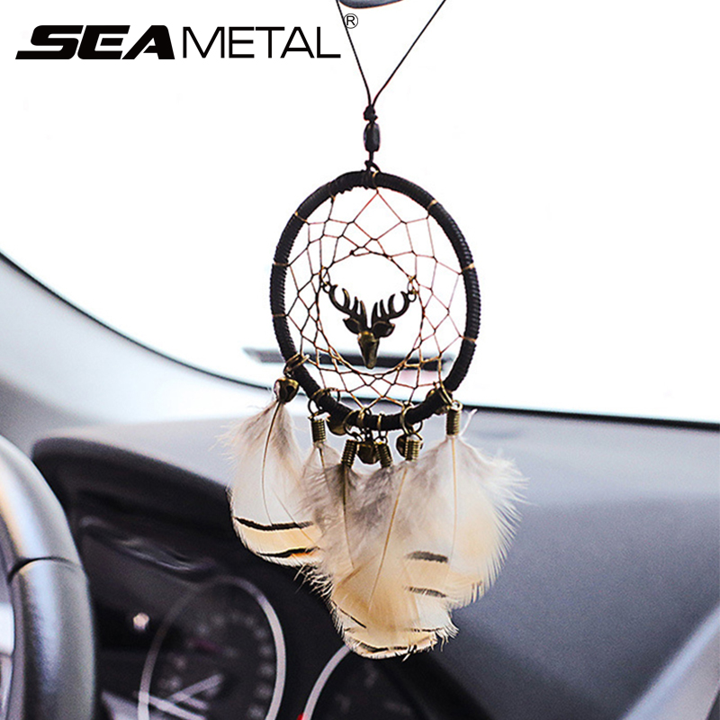 Car Pendant Hanging Ornaments Dream Catcher Indian Decoration Feather Wind Chime