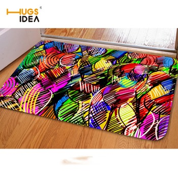 HUGSIDEA-alfombra antideslizante con estampado de Graffiti 3D, Tapis para sala de estar,...