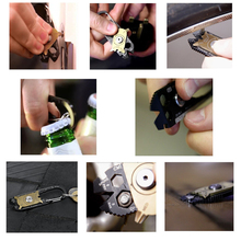 SUYIZN 20 In 1 Outdoor Multitool Camping Survival Key Organizer A Set Of Keys Screwdriver Set Auto Repair Tool Opening Tools
