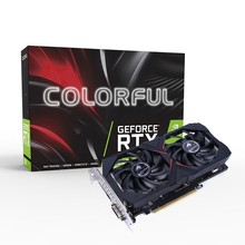 Coloré GeForce RTX 2060 GAMING GT V2 carte graphique Nvidia 6G GDDR6 Gaming carte vidéo 1365-1680 Mhz PCI-E 3.0 HDMI pour PC Gaming