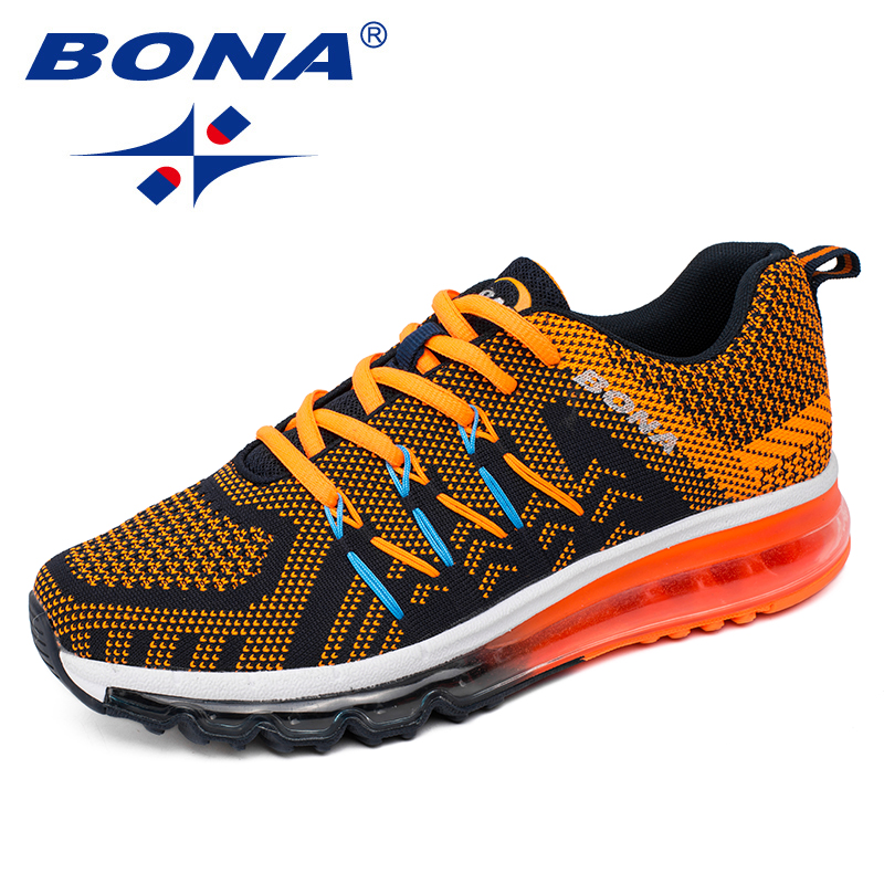 BONA New Arrival Popular Style Men Running Shoes Outdoor Jogging Sneakers Air Cushion Out Sole Men Athletic Shoes Free Shipping