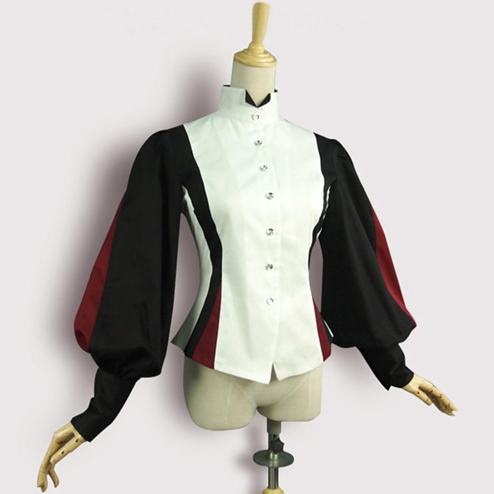 Gothique Beige rouge Femmes Lanterne Costume Printemps Coton Chemise Épissure Vintage Chemisier Lolita De Cour Eté Manches Bureau Tops zqnaUAnx