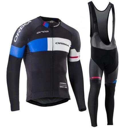 Prix pour 2017 Pro Équipe ORBEA Cyclisme Vêtements À manches Longues Automne Hiver Mem maillots de Cyclisme VTT vélo Ropa Ciclismo Cycle de Sport