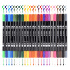 24 Colored Dual Headed Water Based Ink 0.4mm Tip Fine Brush Artist Set Marker Artist Graphic Sketch Manga Drawing Micron Pen