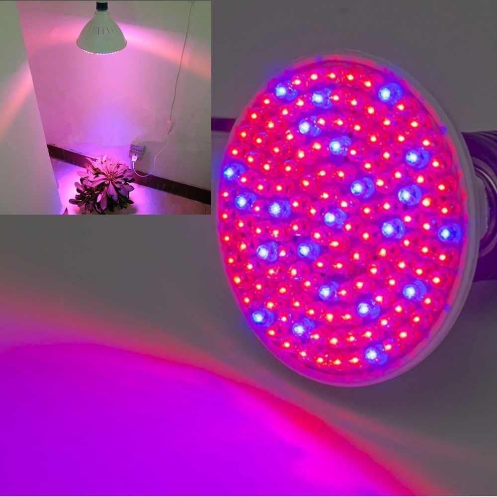 LED Grow Light E27 7W 138 LED Beads Plant Flower Growing Lamp Yard Garden Hydroponics Light