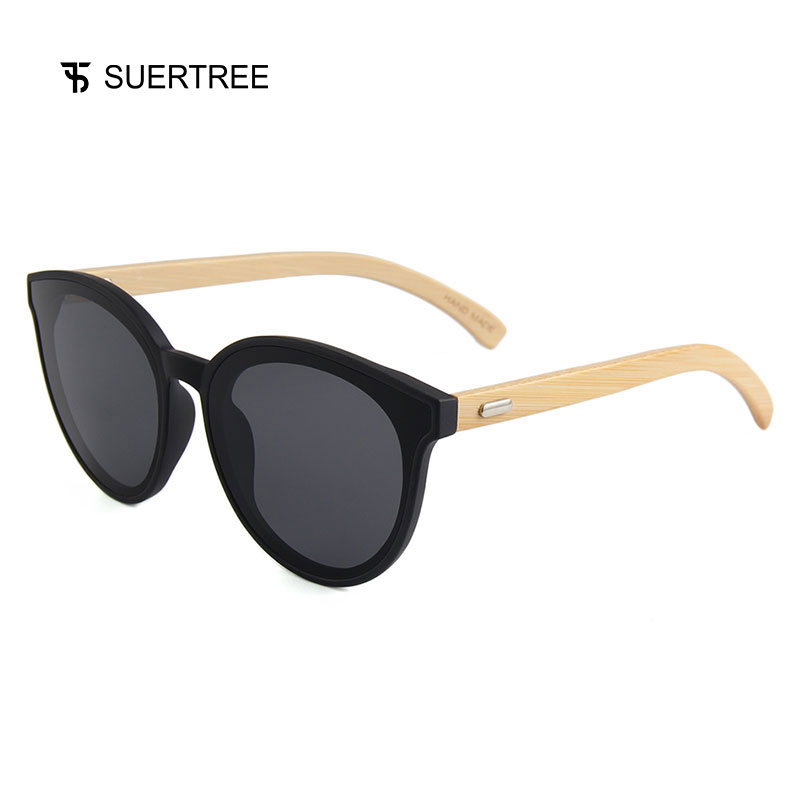 SUERTREE Bamboo Sunglasses Women Men Sunglass