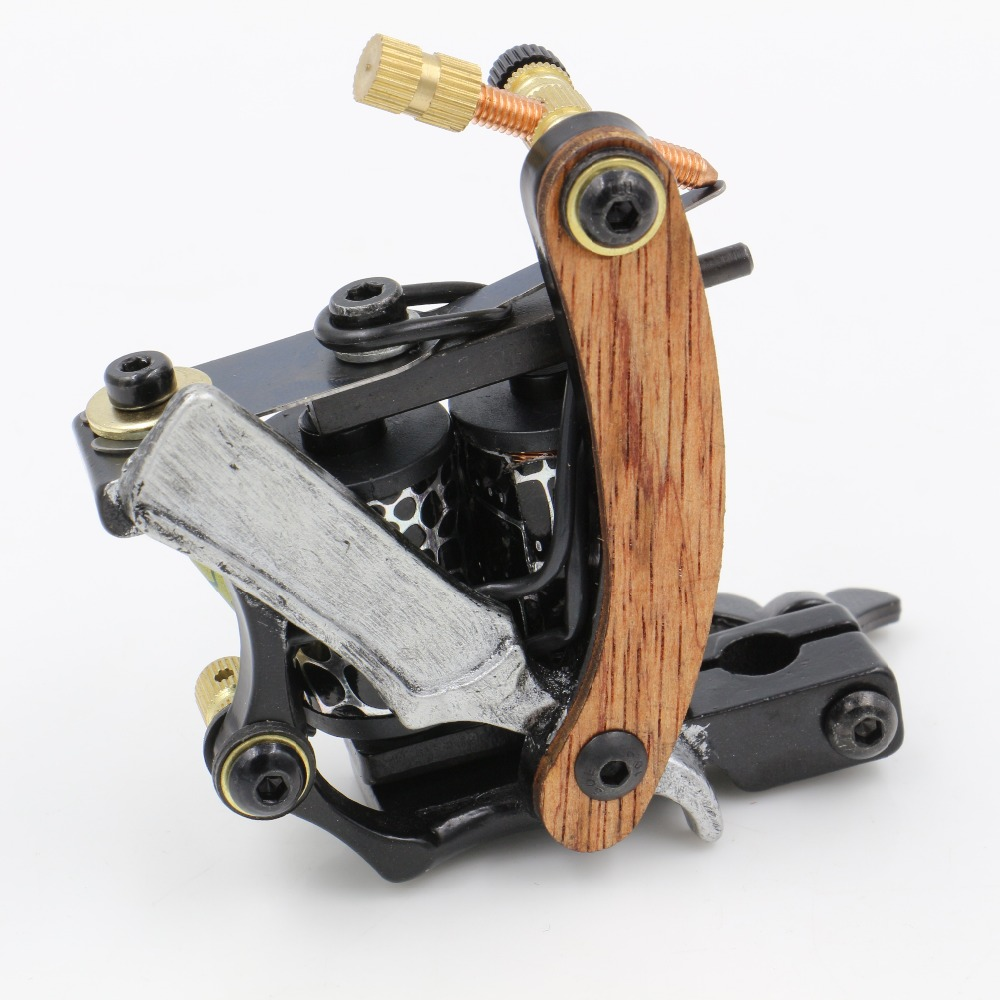 Carbon Steel Tattoo Machine Professional Iron Tattoo Machine Wrap Coils Lining Shading Coloring For Tattoo Power Supply Supplier