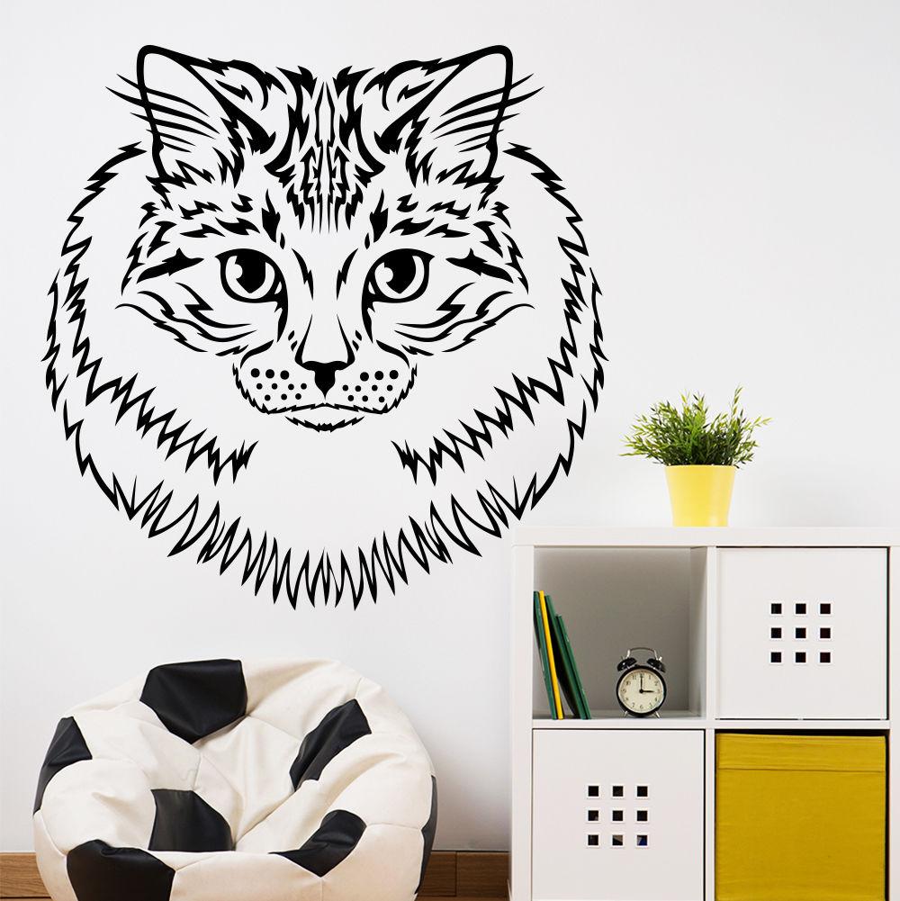 Wall Decal Cat Animal Decal Pet Shop Grooming Salon Decor Vinyl Home Art