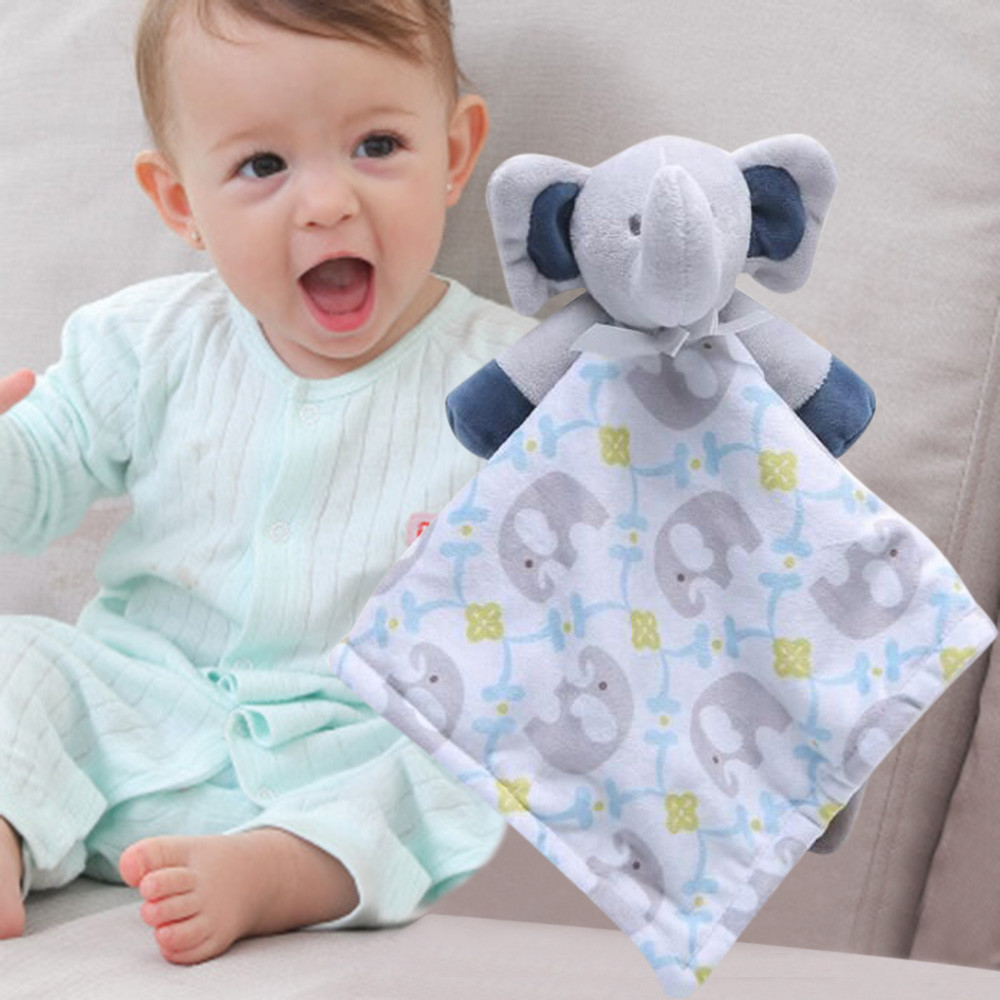Newborn Soft Baby Teddy Bear Puppet Toy Gift Snuggle Baby Comforter Blanket