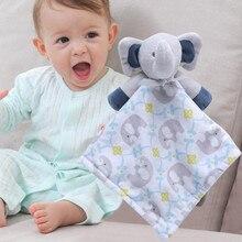 Мягкий детский плюшевый медвежонок для новорожденных, кукольная игрушка, подарочное одеяло для детей