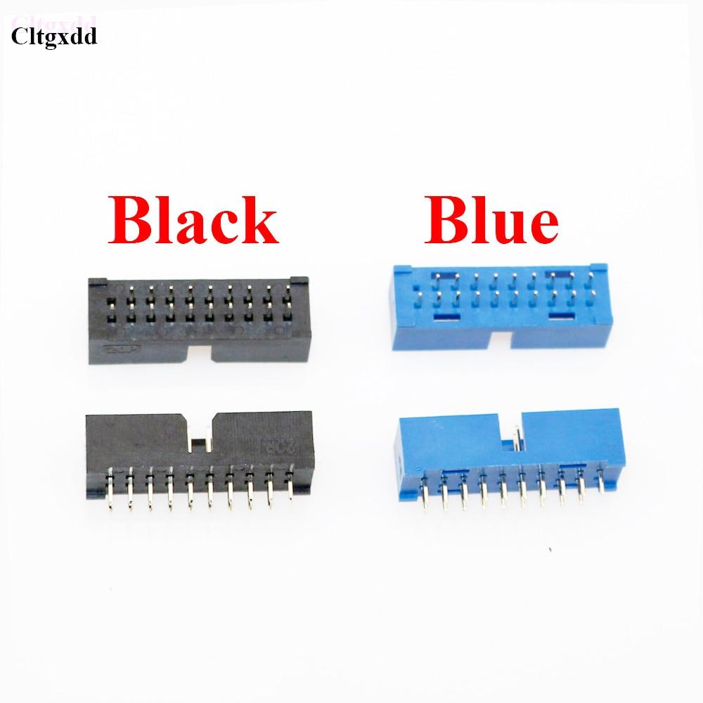 1pcs USB 3.0 19p 20p USB3.0 19pin 20pin Male  90 Degree Motherboard Connector