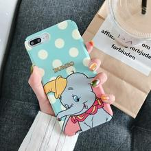 IMIDO Dumbo New Anti-fall Fashion Phone Cases Water Pasting PC For iphone 6/7/8/X /Xs/ Xsmax/Xr Cute Simple Cartoon