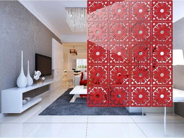 8 TEILE/LOS Plexiglas Geschnitzte Tafeln Hängen Bildschirm Mode Wohnzimmer  Hohl Hängen Partition Vorhang Chinesischen