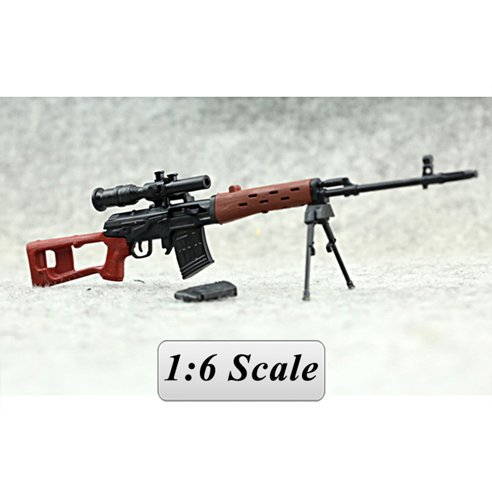 SVD Sniper Rifle Weapon Model Gun For 1/6 Scale 12 Action Figure 1:6 Model For 1/100 MG Bandai Gundam Models Can Use Kids Toys bandai 1 100 mg assault purples gundam model page href page 5 href