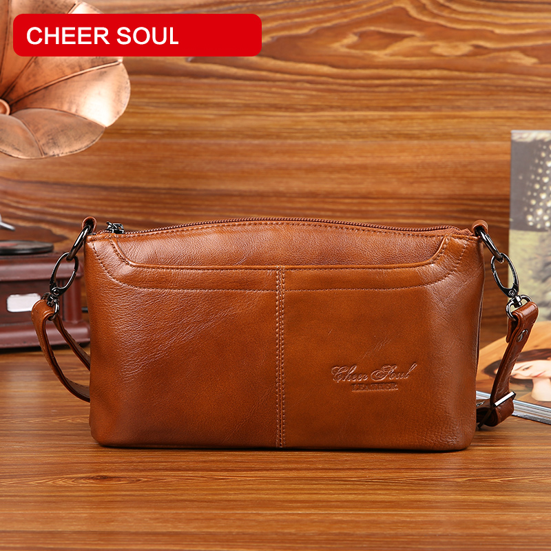 New Small Shoulder Bags For Women Genuine Leather Fashion Crossbody bag sac a main Ladies Messenger Bag Luxury Clutch Handbags