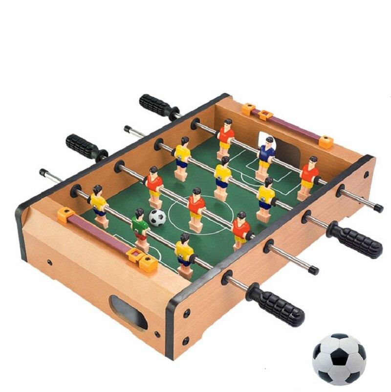 Livraison gratuite en plastique Table de billard 4 pôles Mini baby - foot Mini - football de football de Table couverte jeu de sport jeu de société pour enfants