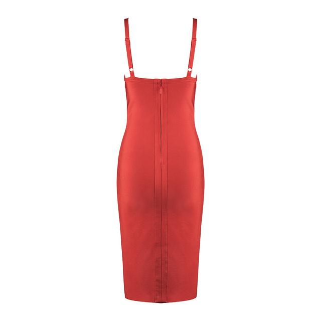 Ruffles Spaghetti Strap Backless Bandage Dress