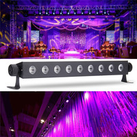LED Disco UV Violet Black Lights DJ 27W Par Lamp UV For Party Christmas Bar Lamp Laser Stage Wall Washer Spot Light Backlight