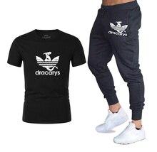 2019 TV show Game of Thrones Dracarys print Harajuku T-shirt+trend Sweatpants Sport Suit summer Men casual t shirt+pants sets