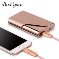 Bisi Goro 2019 Business Credit Card Name ID Card Holder Smart Wallet With USB for Charging Wallet Capacity 4000 mAh For Travel