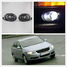 DFLA Свет автомобиля для VW Passat B6 3C 2006 2007 2008 2009 2010 2011 автомобиль-Стайлинг спереди галогенные туман свет противотуманные с выпуклой линзы