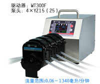 WT300F 4x YT15 Big Flow Intelligent Dispensing Peristaltic Dosing Filling Pump Lab Industry Pump 0.006 1300ml/min