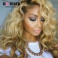 БК 8А ВОЛОС Ombre Weave #613 Блондинка 360 Омывать Фронтальной с 2/3 Bundle Предложения Перуанский Объемной Волны Человеческих Волос Freeshipping парик