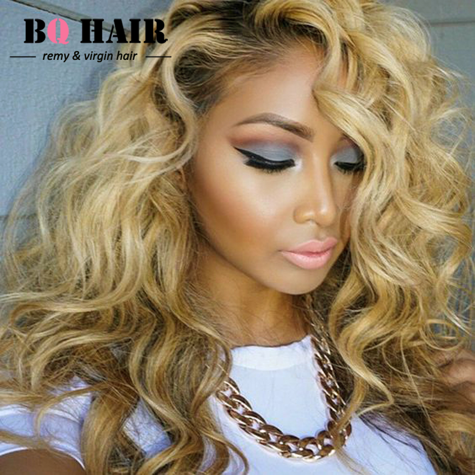 Bq Hair 8a Ombre Weave 613 Blonde 360 Lave Frontal With 2