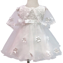 Lace Princess Girl Christening Dress for Toddler Baby Girl Party Dress Baptism Infant 1 Year Birthday Dress for Baby 1-2 Years