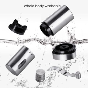 Image 3 - Manual Coffee Grinder Washable Ceramic Core Stainless Steel Handmade Mini Portable Coffee Bean Burr Grinders Mill Kitchen Tool