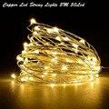 5 M 50 LED 3XAA Pilas LLEVÓ Cadena de Luces de Navidad Garland Partido Decoración de La Boda de Navidad Flasher Luces de Hadas