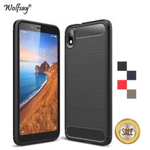 Xiaomi Redmi 7A Case Shockproof Armor Rubber Soft Silicone Phone For Back Cover Fundas*
