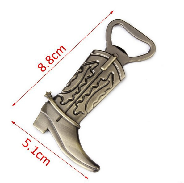 Free Shipping Just Hitched Alloy Cowboy Boot Bottle Opener Western Wedding Favor Gift Party Cute Keepsake 100pcs wen6008