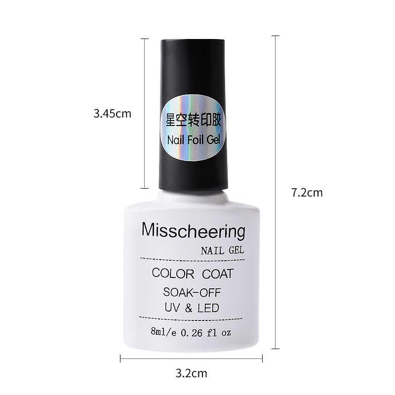 8ML colla adesiva per lamina per unghie cielo stellato adesivo colla per trasferimento pianta ambientale colla per unghie Gel UV accessori per Manicure