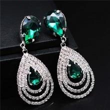 Fashion Wedding Bridal Jewelry Sets For Women Rhinestone Austrian Crystal Jewelry Set Bracelet Earrings Set Indian Accessories