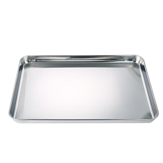 Square Pan Bakeware Oven Sheet Stainless Steel Heavy baking Sheet Nonstick Cooking Pan Tray for Pizza Fries