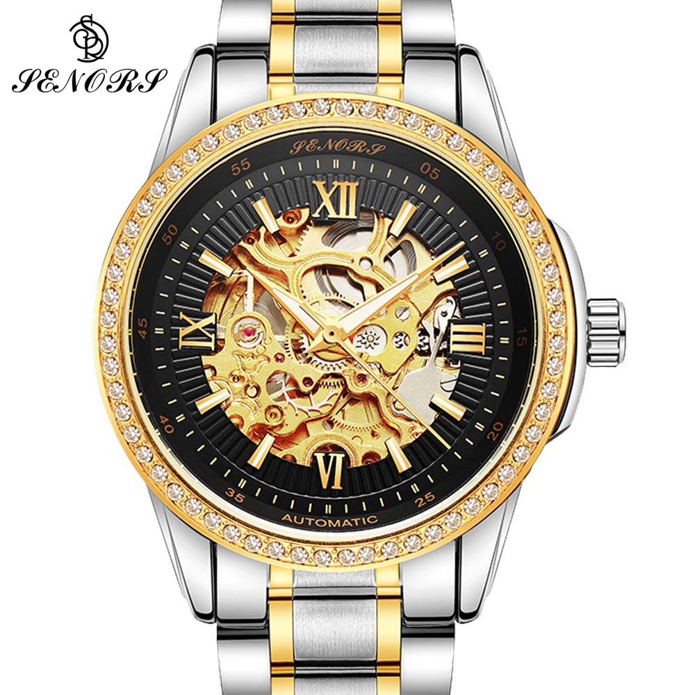 Permalink to Automatic Mechanical Watch Men Hot Skeleton Watches Gold Bracelet Wristwatch Luxury Brand Mechanical Clock Male Self-winding
