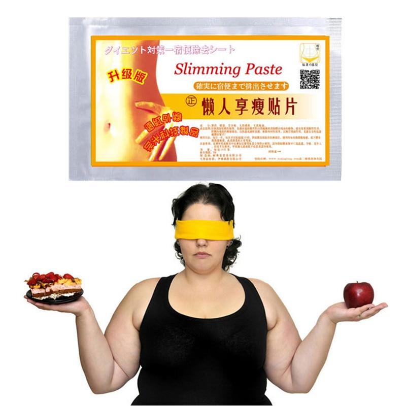 1000 шт = 100 Сумки Горячая диетический контроль пластырь для похудения популярный китайский пупок патч для похудения