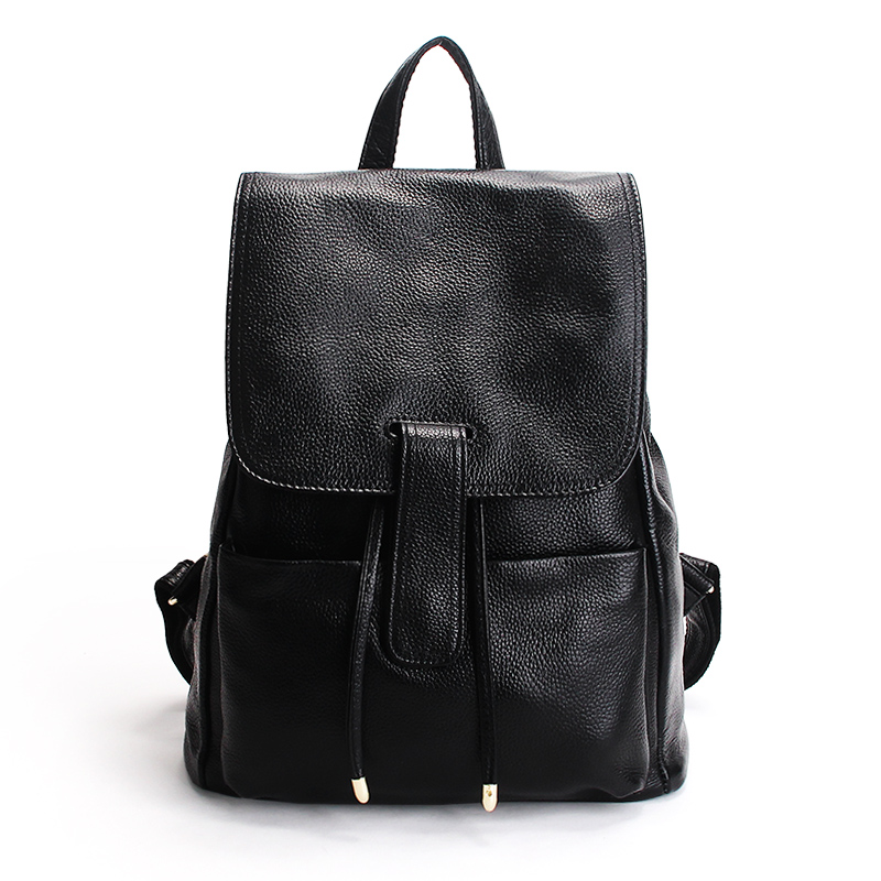 New 100% Real Genuine Leather Natural Soft Backpacks Top Layer Cowhide Women Backpack Young Girls School Bags Casual Travel bags zency genuine leather backpacks female girls women backpack top layer cowhide school bag gray black pink purple black color