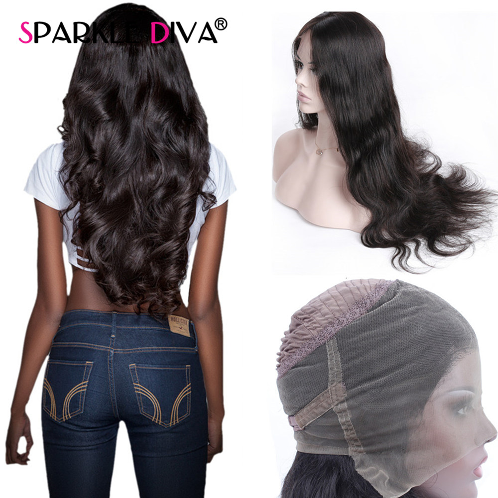Body Wave Human Hair Wigs For Women 150 Peruvian Remy Lace Frontal Wigs Glueless 360 Lace