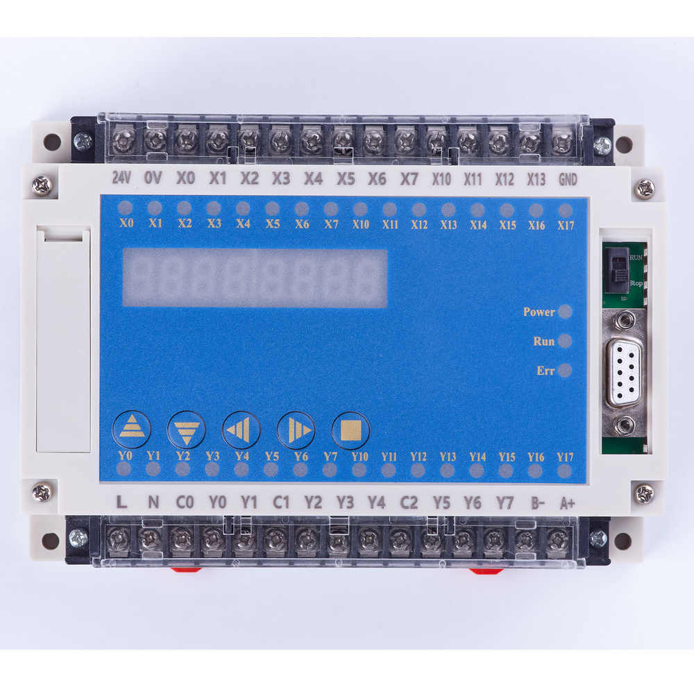 plc programmable logic controller plc enclosure FX2N 20MR 0-10V 4 AD 2 DA 12 in 8 out RTC LED relay automatic controller 220V