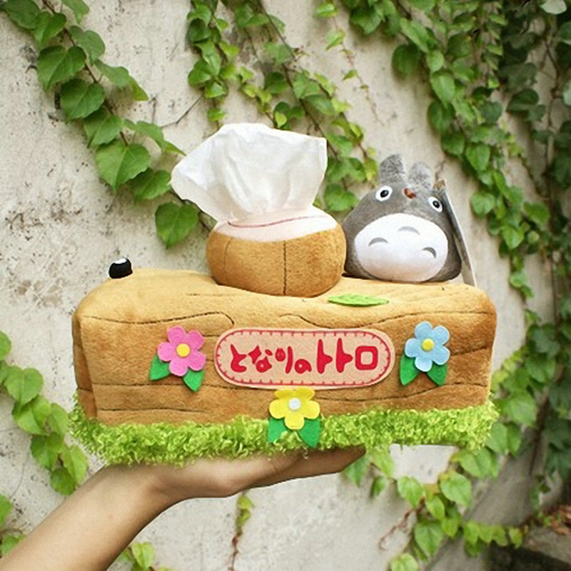 1pcs Totoro Plush Doll Toy Tissue Box Japan Anime Chinchillas Extraction Household Product Office Desk Decorate Gifts For Girl
