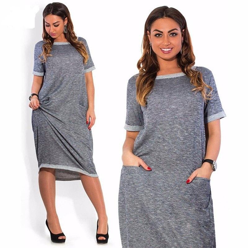 Women Dress Plus Size 6l Long Linen Natural Coloured Cotton Dresses vestidos largos de verano festa longo Office Dress Blue/Grey