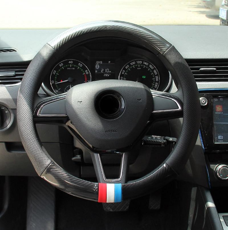 1pc for Skoda Octavia 2015-2018 wagon 2017-2018 Steering wheel cover Non-slip Decorative