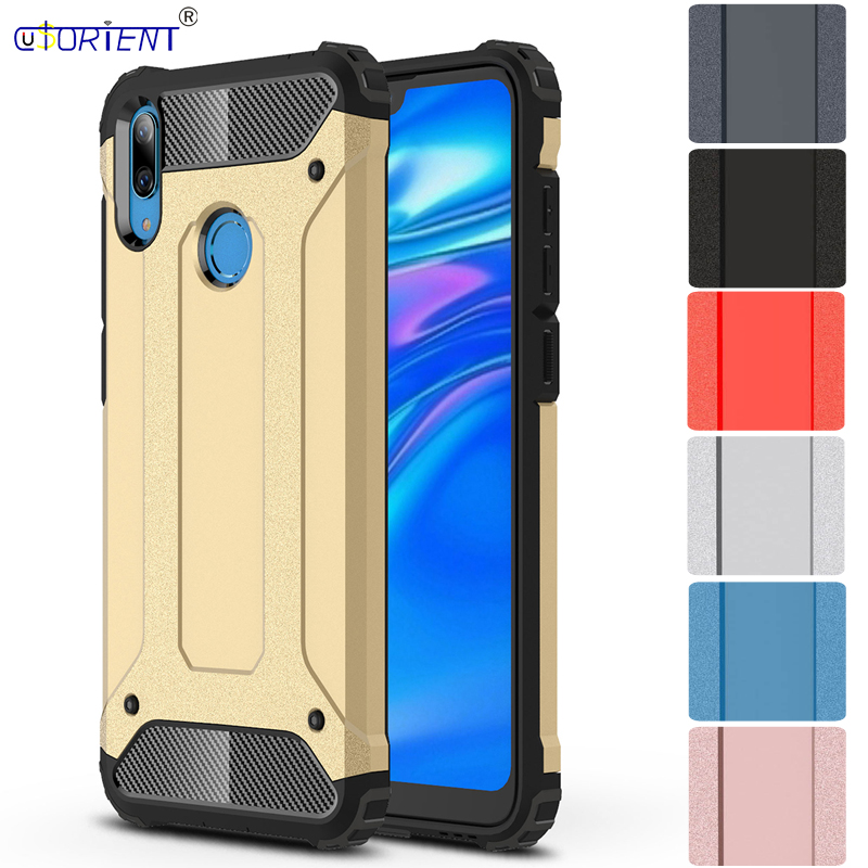 Phone Cover for HUAWEI Y7 2019 DUB LX1 Hybrid Armor Case for Huawei Y7 2019 Y79 DUB-LX1 Rugged hybrid 2-layer armor Full Cover image