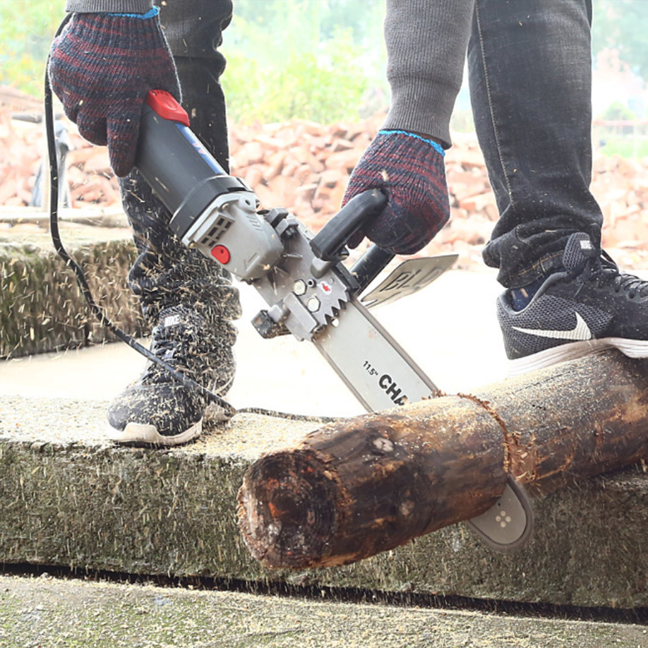 11.5 Inch Chainsaw Bracket Changed 100 125 150 Electric Angle Grinder M10/M14 Into Chain Saw Woodworking Power Tool