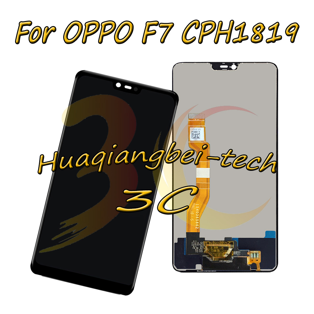 New 6.23 Black For OPPO F7 CPH1819 CPH1821 Full LCD DIsplay + Touch Screen Digitizer Assembly 100% TestedNew 6.23 Black For OPPO F7 CPH1819 CPH1821 Full LCD DIsplay + Touch Screen Digitizer Assembly 100% Tested