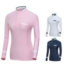 Женские рубашки для фитнеса и гольфа, женские осенние Рубашки с длинным рукавом для гольфа, дышащие спортивные уличные топы для тенниса D0691