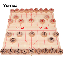 Yernea Traditional China  Chess Various sizes Beech Wood Color Piece Wooden Folding Board Portable Puzzle Games Set